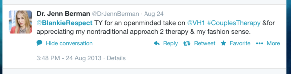 Dr. Jenn Berman acknowledges the awesome nature of this post.